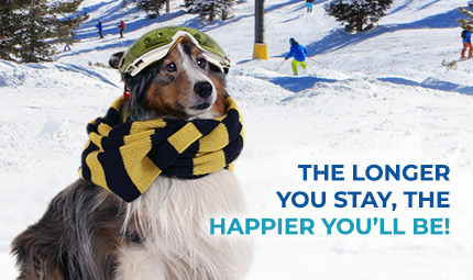 The longer you stay, the happier you'll be!