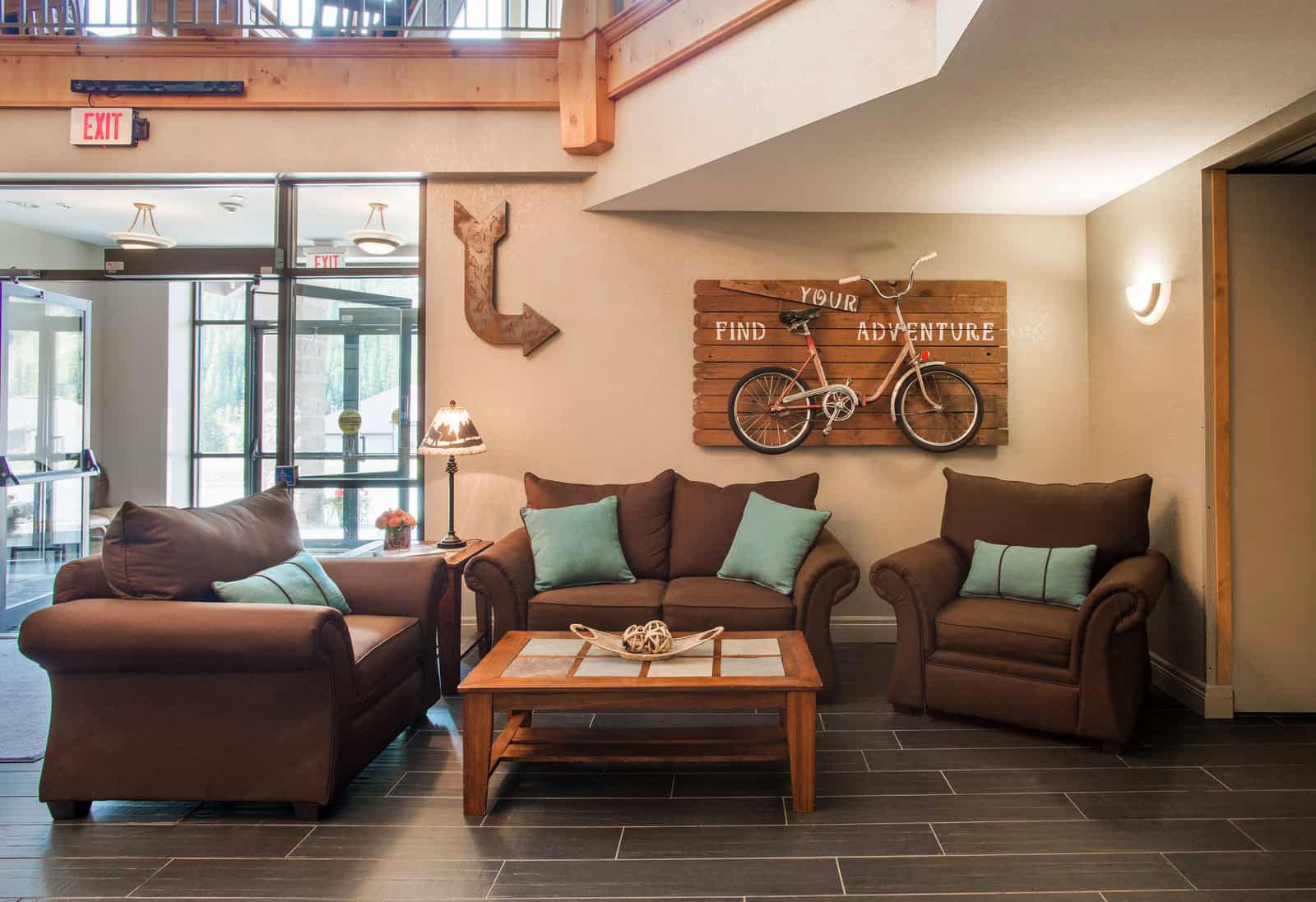 Lobby of Winter Park Mountain Lodge
