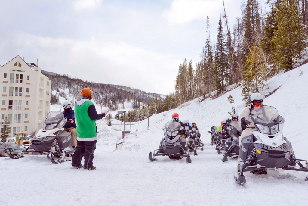 snowmobile tours in winter park