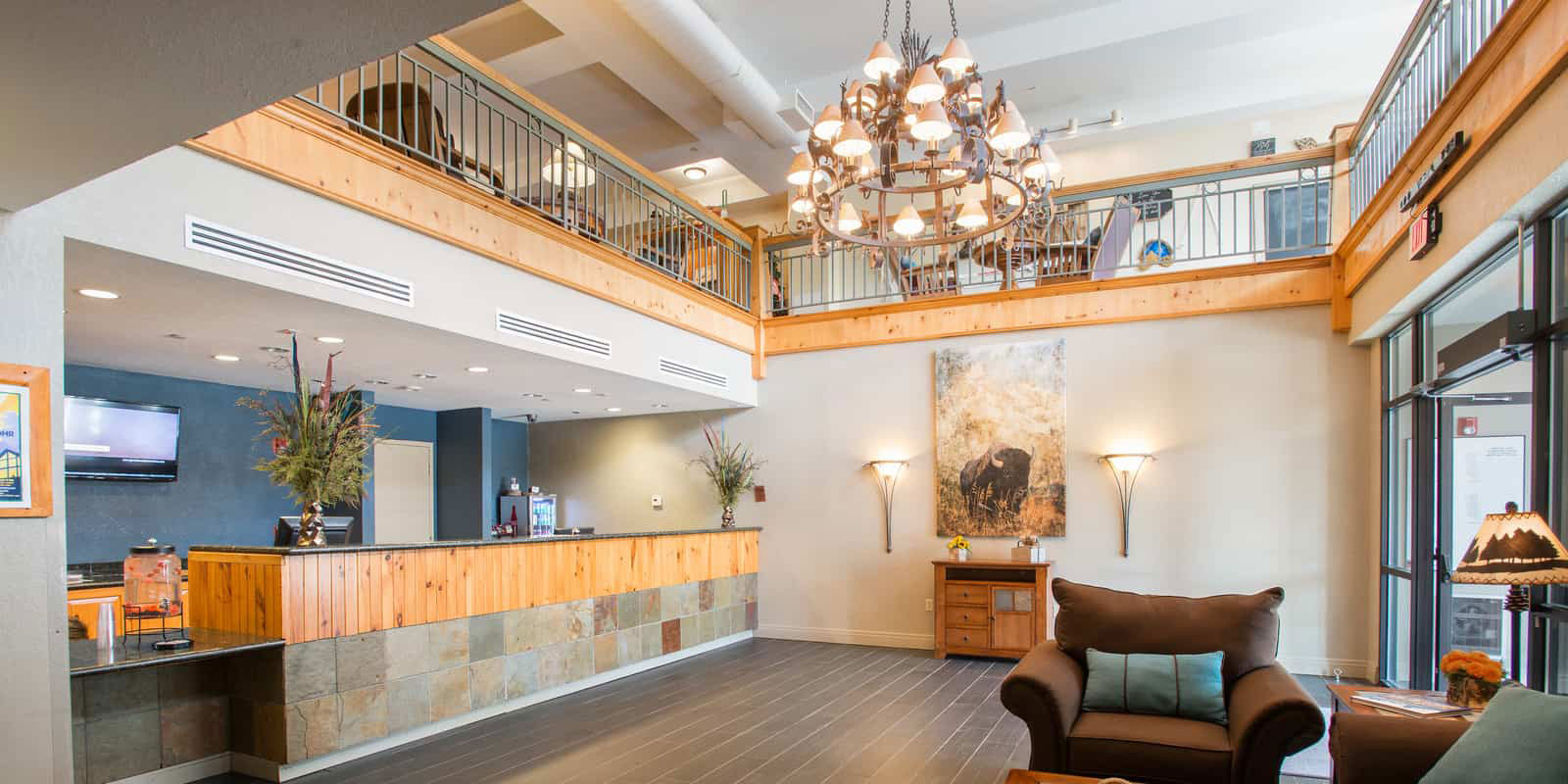 Lobby of Winter Park Mountain Lodge
